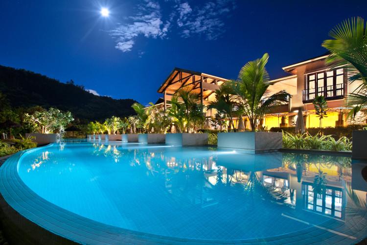 Kempinski Seychelles Overhead View