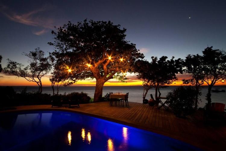 Azura Quilalea sunset dinner on deck